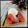 Ananas rôti à la vanille glace noix de coco