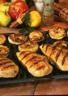 Blancs de poulet grillés aux pommes et à la cannelle
