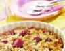 Crumble rhubarbe fraises et noix de coco
