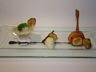 Déclinaison de topinambours : velouté purée et chips coquilles Saint-Jacques lardée à l'orange