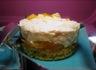 Gâteau à la mousse chocolat blanc - fève tonka et aux clémentines confites