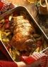 Gigot d'agneau à la provençale pistou et pommes de terre
