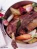 Gigot d'agneau de lait des pyrénées aux petits légumes de printemps