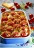 Gratin de courgettes et pommes de terre aux tomates entères