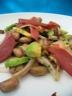 Haricots de Paimpol en salade au magret séché et avocat