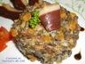 Lentilles à la crème et magret de canard séché