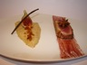 Magret de canard rôti au porto et badiane écrasée de rattes et figues à la vanille chapelure de...