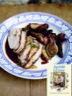Oignons et pommes de terre rôtis au balsamique avec du rôti de porc