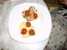 Pavé de loup sur purée de pommes de terre douces et confit de Tomates au basilic sucré