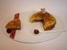 Petite galette framboise pistache et grué de cacao