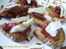 Petite tartine miel de carottes-viande des grisons-fromage de brebis
