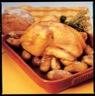 Poulet rôti pommes de terre à la fleur de sel