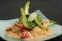 Ravioles de homard bisque à l'estragon et tagliatelle d'asperges vertes à l'huile d'olive