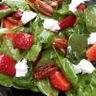 Salade d'épinards chèvre et fraises