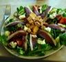 Salade de magret de canard séché à l'orange