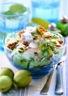 Salade de poireaux pommes et noix
