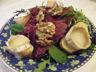 Salade : mesclun, chèvre chaud, viande des grisons