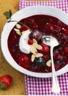 Soupe froide aux fruits rouges