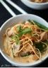 Soupe thaï au poulet et nouilles curry rouge