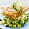 Tartare tout vert de concombre et légumes