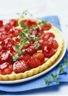 Tarte aux fraises et au thym citron
