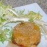 Tatin d'oignon pomme endives au Foie Gras