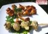 Tempura d'escargots pistou de persil purée de cocos blancs et girolles sautés