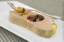 Terrine de foie gras coeur de fruits secs marinés à l'armagnac
