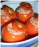 Tomates farcies au riz & au fromage de chèvre