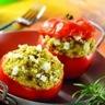 Tomates farcies aux céréales méditerranéennes et au chèvre frais