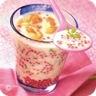 Velouté de chou-fleur au saumon fumé et perles du Japon