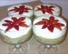 Verrine rhubarbe-fraise à la crème de mascarpone