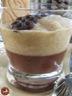 Verrines gelée de chocolat à la réglisse mousse de poires