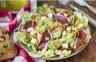 Salade landaise de laitue et de carottes râpées