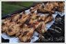Brochettes d'ailerons de poulet mariné