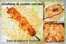 Brochettes de poulets marinées