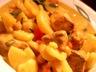 Mijoté de poulet epicé à l'indienne pois chiches patates courgettes