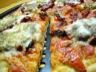 Pizza aux tomates séchées, mozzarella et pesto