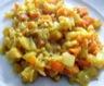 Poêllée de riz aux légumes racines et lentilles roses