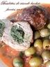 Tajine boulettes de viande hachée farcie aux épinards