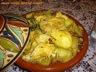 Tajine de poulet aux olives, fenouil et citrons confits