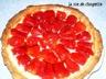 Tarte aux fraises, creme citron
