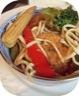 Wok de nouilles, légumes sautés & tempeh