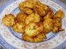Beignet de pomme de terre au jambon cru, emmental et ciboulette, by Cyril Lignac