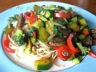Boeuf sauté aux légumes multicolores