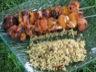 Brochettes abricot / poulet mariné