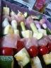 Brochettes de légumes et poulet marinées