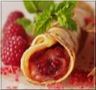 Crêpes à la Rose - À la Framboise et aux Macarons