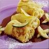 Crêpes Roulées au Caramel Beurre Salé à la Banane et Citron Vert