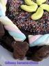 Gâteau à la banane fourré de crème chocolat